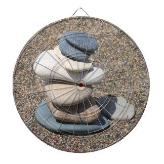 Zen stones dartboard