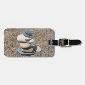 Zen stones luggage tag