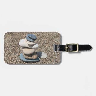 Zen stones bag tag