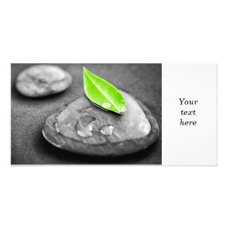 Zen stones personalized photo card