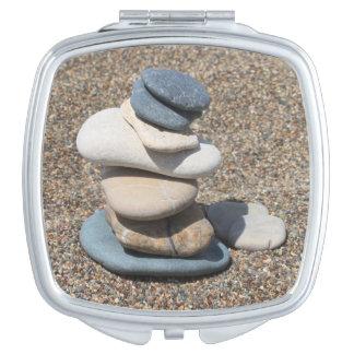 Zen stones travel mirror