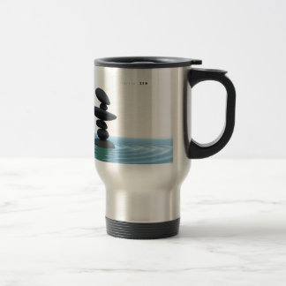 Zen Stones Rippling Shallow Water Travel Mug