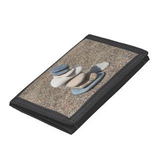 Zen stones tri-fold wallet