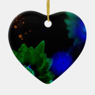 Zen Strength Lotus Flower Ceramic Heart Ornament