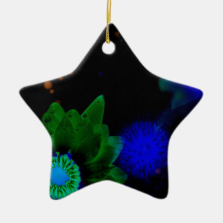 Zen Strength Lotus Flower Ceramic Star Ornament