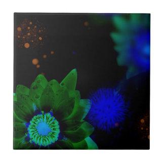Zen Strength Lotus Flower Ceramic Tile