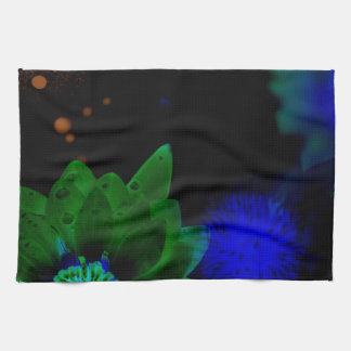 Zen Strength Lotus Flower Kitchen Towel