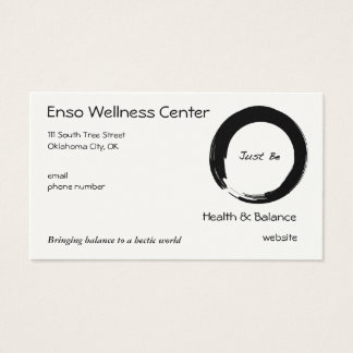 "Zen Symbol with ""Just Be"" Business Card"