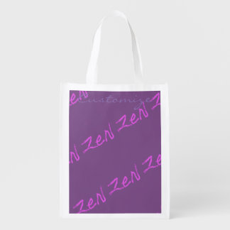 zen Thunder_Cove any color Reusable Grocery Bag