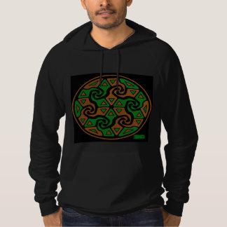 Zen Tri Arrows (burnt orange and green) Hoodie