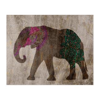 Zen Tribal Asian Elephant Acrylic Wall Art