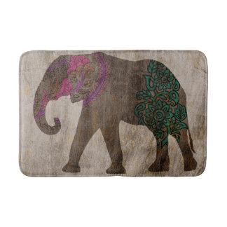 Zen Tribal Asian Elephant Bath Mat