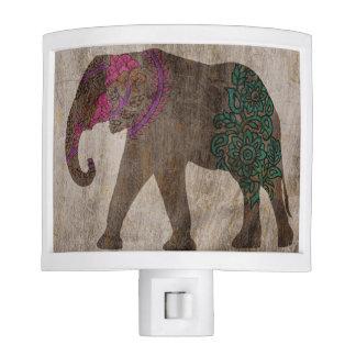 Zen Tribal Asian Elephant Nite Light