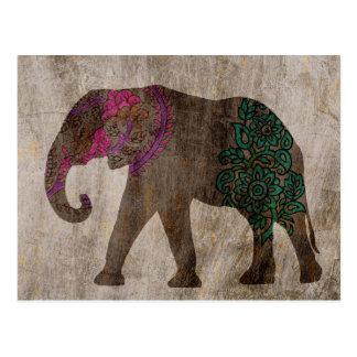 Zen Tribal Asian Elephant Postcard