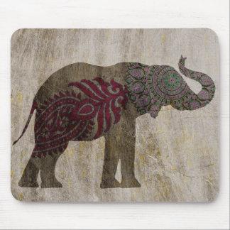 Zen Tribal Elephant Mouse Pad