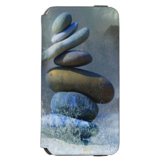 Zen Turquoise Stone Formation Misty Sea Spray Incipio Watson™ iPhone 6 Wallet Case