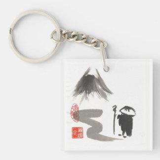 Zen Wandering Pilgrim Keychain