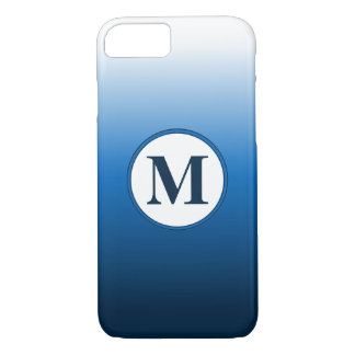Zen White to Deep Blue Ombre Monogram iPhone 8/7 Case