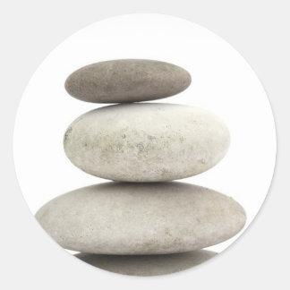 Zen yogo stones classic round sticker