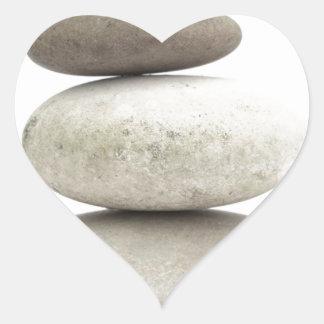 Zen yogo stones heart sticker
