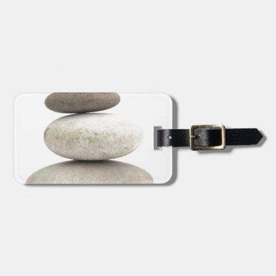 Zen yogo stones luggage tag