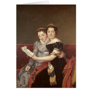 Zenaide  and Charlotte  Bonaparte, 1822 Card