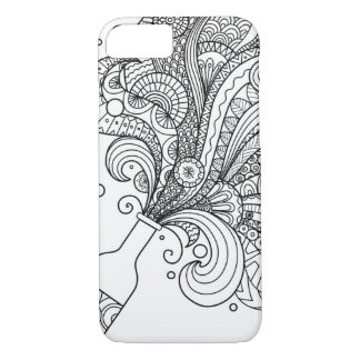 Zendoodle design of champagne bottle iPhone 8/7 case