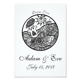 Zendoodle Love Tulip&Heart Wedding Invitations
