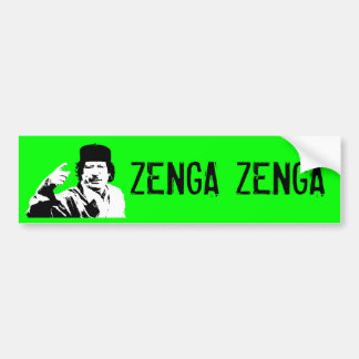 Zenga Zenga! (technical edition) Bumper Sticker
