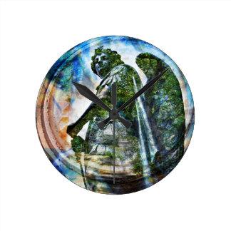 ZenKitten - Classical Roman Angel Round Clock