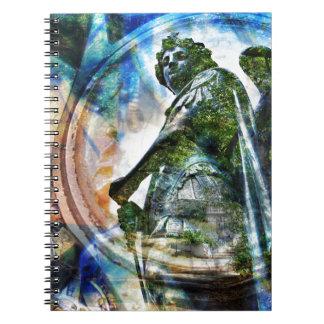 ZenKitten - Classical Roman Angel Spiral Notebook