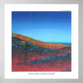 Zennor Moors at Dusk, Cornwall Poster