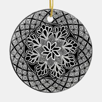 zentangle fashion christmas ornament