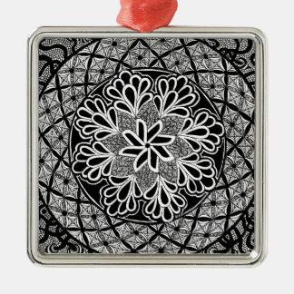 zentangle fashion christmas ornaments