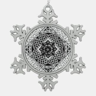 Zentangle in Black & White Ornament