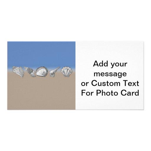 Zentangle-Inspired Seashell Drawing Art Photo Greeting Card