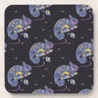 Zentangle Lizard Beverage Coaster