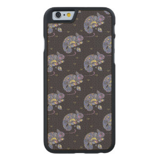 Zentangle Lizard Carved® Maple iPhone 6 Slim Case