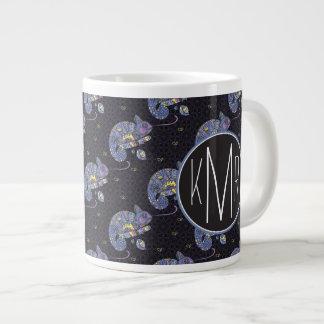 Zentangle Lizard | Monogram Giant Coffee Mug