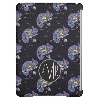 Zentangle Lizard | Monogram iPad Air Cover