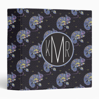 Zentangle Lizard | Monogram Vinyl Binder