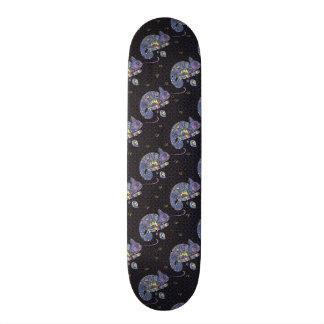 Zentangle Lizard Skateboard Deck