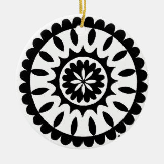 zentangle mandala - daisy ornaments