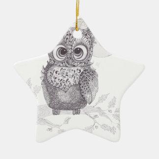 Zentangle Owl Ornaments