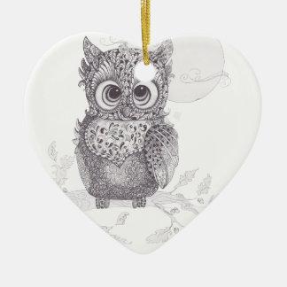 Zentangle Owl Ornament