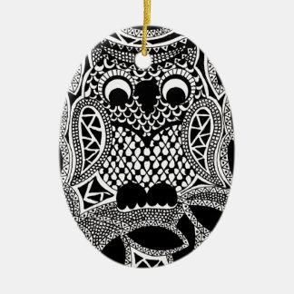 Zentangle Owl Christmas Tree Ornaments