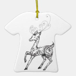 Zentangle Reindeer Ornaments