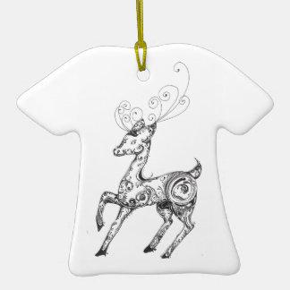 Zentangle Reindeer Christmas Tree Ornaments