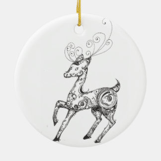 Zentangle Reindeer Christmas Ornaments