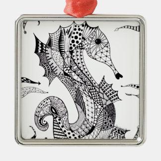 Zentangle Sea Horse Ornaments